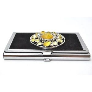 Accessories - Studded Stainless Steel Business Card Holder